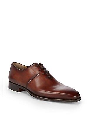 Almond Toe Leather Oxfords