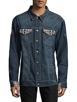 Embroidered Denim Button-Down Shirt