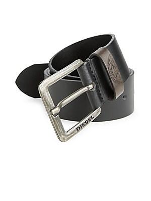 Engraved Logo Leather Belt