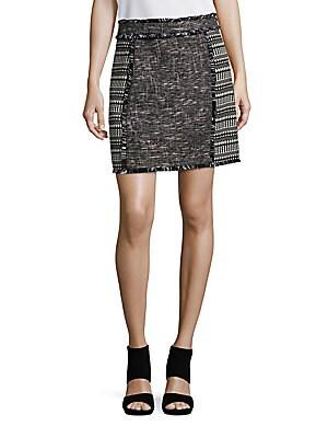 Pixel Mix Tweed Skirt