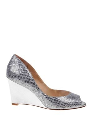 AWAKE GLITTER WEDGE HEEL SHOES