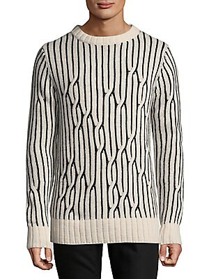 Twisted Graphic Wool Sweater