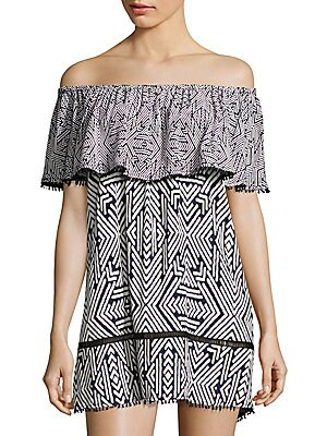 Azteca Off Shoulder Coverup
