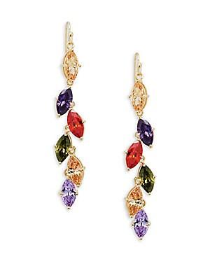 Multi-Colored Crystal Drop Earrings