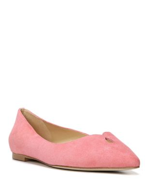RUBY SUEDE POINT TOE FLATS
