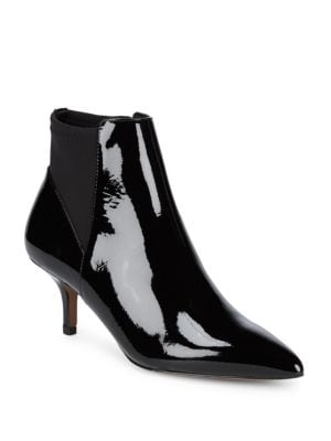 PATENT POINT TOE BOOTIES
