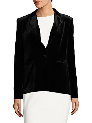 Long Sleeve Velvet Jacket