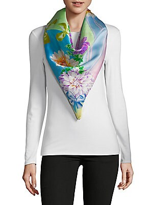 Saks Fifth Avenue Silk Foulard Scarf