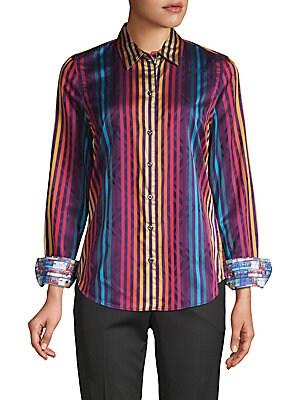 Stripe Cotton Button-Down Shirt