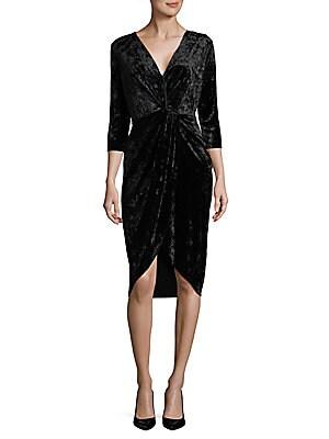V-Neck Velvet Dress