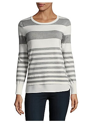 Stripe Two-Fer Sweater