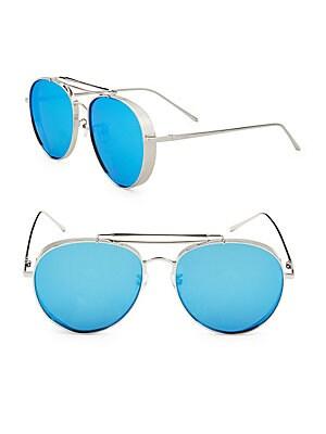 59MM Aviator Sunglasses
