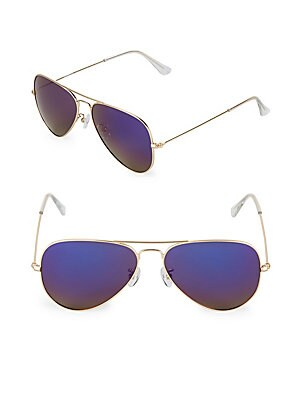 58MM Aviator Sunglasses
