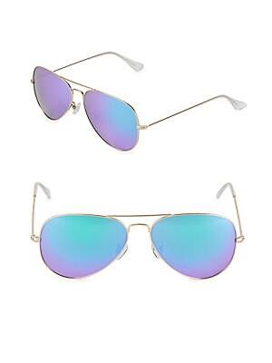 Mirrored 58MM Aviator Sunglasses