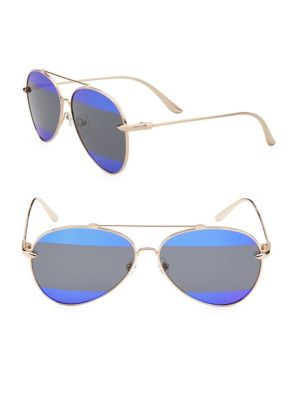 GRADIENT 60MM AVIATOR SUNGLASSES