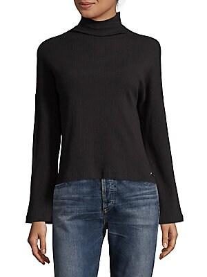 Mockneck Flare-Sleeve Sweater