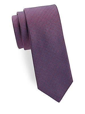 Two-Tone Diamond Silk Tie