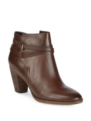 HAYES BELTED LEATHER BOOTIE