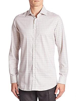 Regular-Fit Windowpane Check Shirt