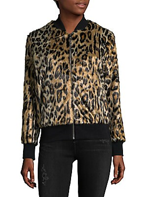 Faux Fur Animal-Print Jacket