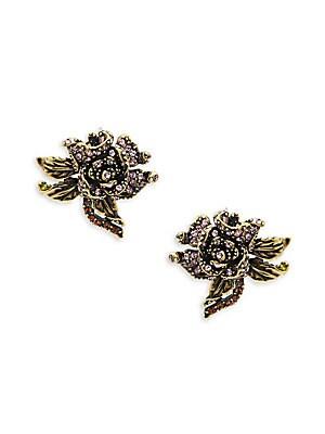Rose Crystal Stud Earrings