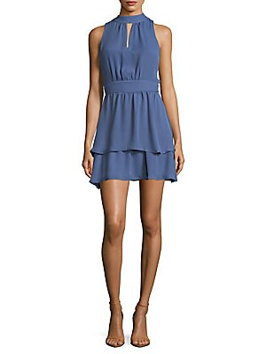 ??eyhole Fit And Flare Dress