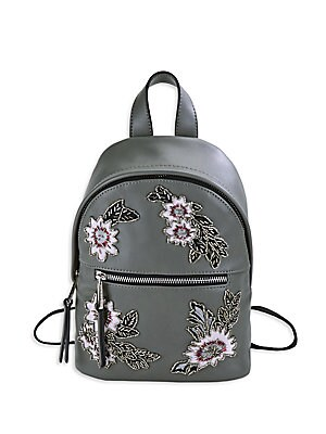 Beaded Floral Mini Backpack