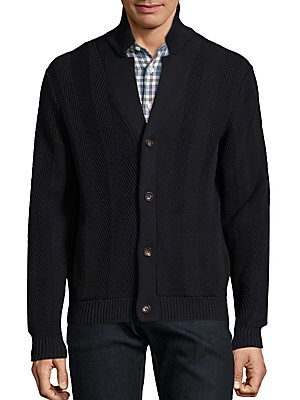 Cotton Ribbed Knit Cardigan