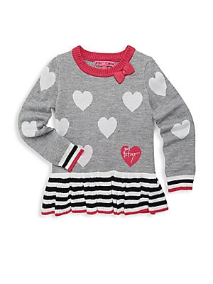 Little Girl's Hearts Sweater