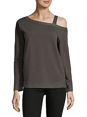 Asymmetric Off-Shoulder Sweater