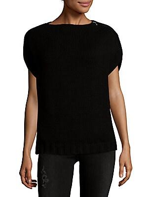 Dolman Sleeve Wool Sweater