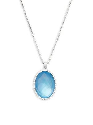 Click here for Fantasia Diamond  Blue Topaz and 18K White Gold Pe... prices