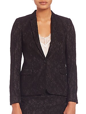 Jewel Buttoned Lace Jacket