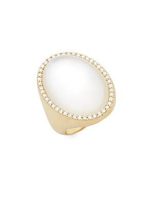 18K Yellow Gold Satin Ring