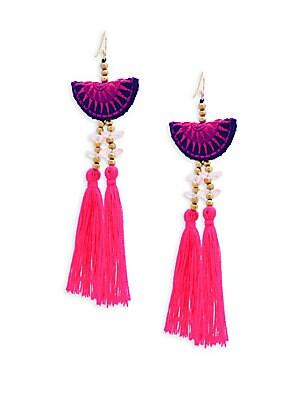 Tribal Beaded Tassel Earrings