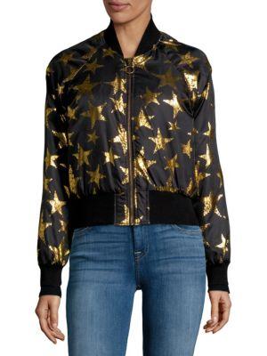 Star Print Bomber Jacket
