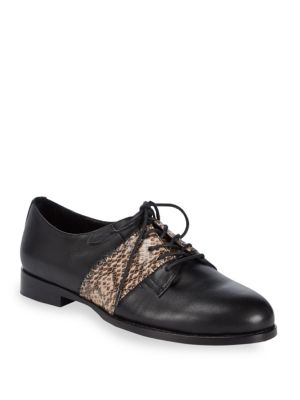 Embossed Leather Oxfords
