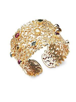 Ajoure Multi-Stone Cuff Bracelet