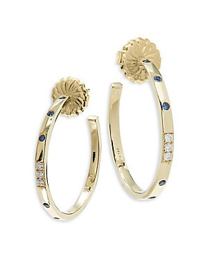18K Gold & Diamond Glamazon Stardust Hoop Earings