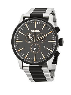 Stainless Steel Stripe Bracelet Watch