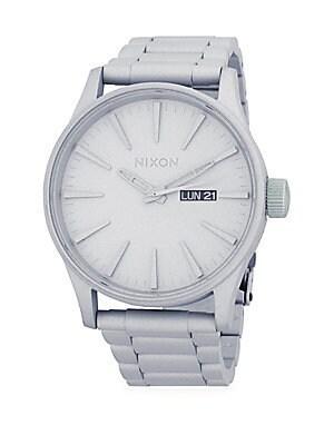 Stainless Steel Linked Bracelet Watch