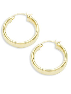 Click here for 14K Yellow Gold Wedding Band Hoop Earrings/0.75 prices