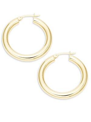 14K Yellow Gold Hoop Earrings/1.25