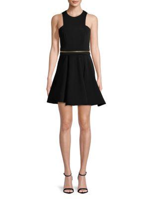 Fit-&-Flare Zip Dress