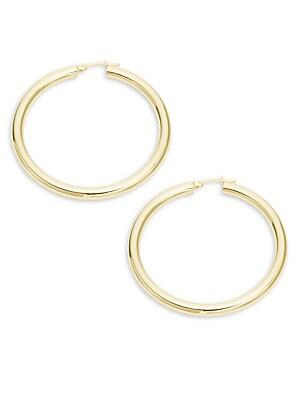 14K Yellow Gold Hoop Earrings/2