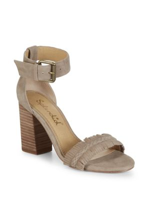 JAKEY FRINGED SUEDE SANDALS