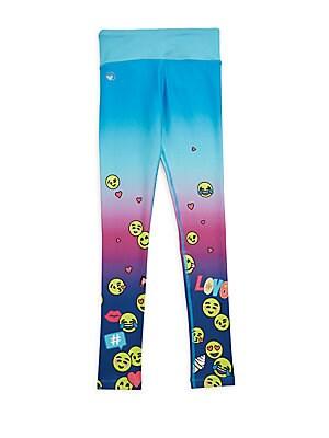 Girl's Emoji Printed Leggings