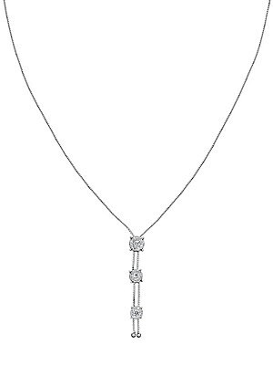 Click here for Diamond Petals 14K White Gold Three-Flower Pendant... prices