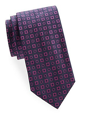 Square and Circle Silk Tie