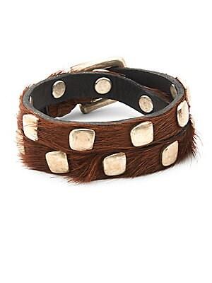 Calf Hair Studded Bracelet